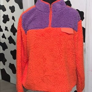 Ladies size large long sleeve Sherpa sweatshirt